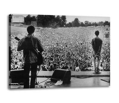 """OASIS AT SLANE CANVAS Liam & Noel Gallagher Poster Photo Print 30""""x20"""" CANVAS"""