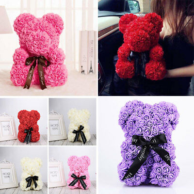 Romantic Rose Bear Dolls Lovely Girlfriend Artificial Rose Valentine'S Day Gift
