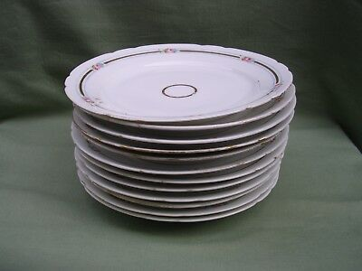 RARE 12 ASSIETTES A DESSERT PORCELAINE DE PARIS FIN 19e VOIR PHOTOS