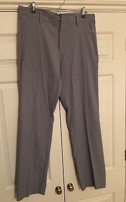 ADIDAS GOLF 3-STRIPE ULTIMATE GREY TROUSERS MENS 34x34