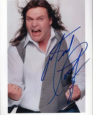 MEAT LOAF autograph 8x10 photo  Singer meatloaf  Bat out of Hell