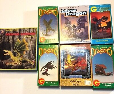 Dragon Miniatures Lot Seven Dragons D&D Roleplaying Games Ral Partha Greanadier
