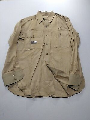 U.s. Army Khaki Shirt 15 1/2 X 34 Dated 1948