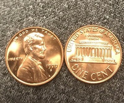 1970 S Large Date Lincoln cent  Nice Beautiful MS/BU RED