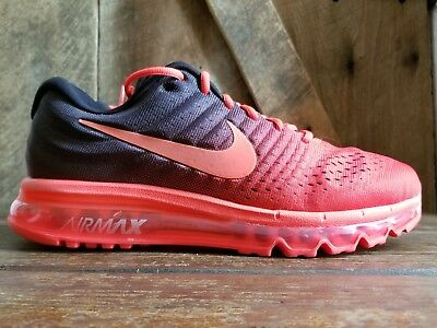 low priced ee078 7e137 Nike Air Max 2017 Red Black Crimson Running Shoes 849559-600 Men s Size 11