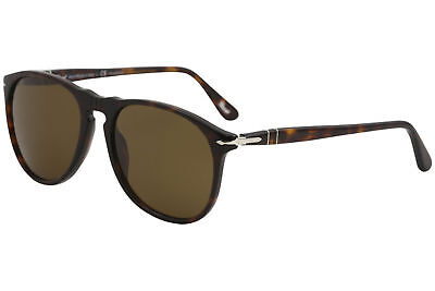 483bf338e4 Persol Men s PO9649S PO 9649 S 24 57 Havana Pilot Polarized Sunglasses 55mm