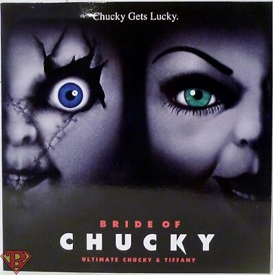 """ULTIMATE CHUCKY & TIFFANY Bride of Chucky 4"""" inch Action Figure 2-pack Neca 2018"""