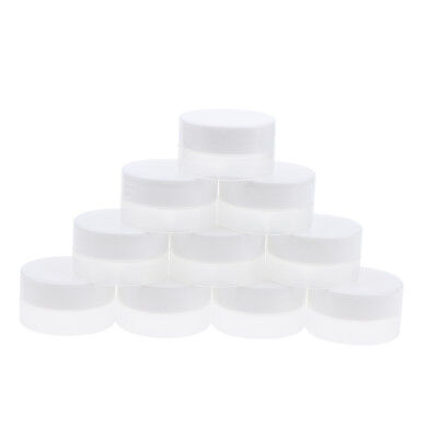 10x Refillable Eyeshadow Container Empty Plastic Clear Case Cosmetic Jar Pot