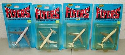 """New!! NOS!! 4- Vtg ROAD CHAMPS """"Commercial Aircraft"""" AIRPLANES Planes LOT /RARE!"""