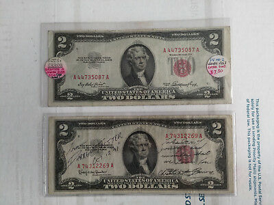 Two 1953 $2 United States Notes - Mint Error & Sentimental Autograph