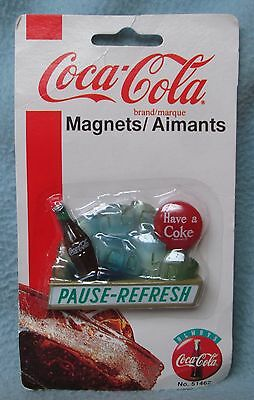 COCA COLA PAUSE REFRESH 3D MAGNET, Sealed Package