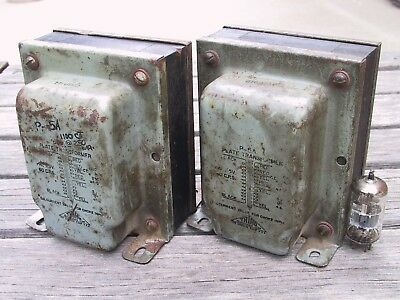 Pair Triad P-5A 550V - 0 - 550V @ 250mA 5V @ 4A Tube Power Transformers