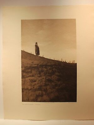 Plains Arikara Edward S Curtis - Large Photogravure Earth Lodge