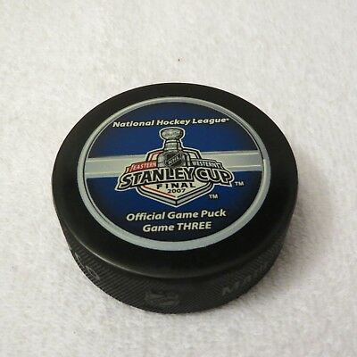 2007 Stanley Cup Finals Game Three Official Game Puck - Anaheim Vs. Ottawa
