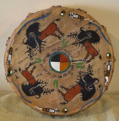 Buffalo Power / Native American Drum Painted by Lakota Artist Sonja Holy Eagle