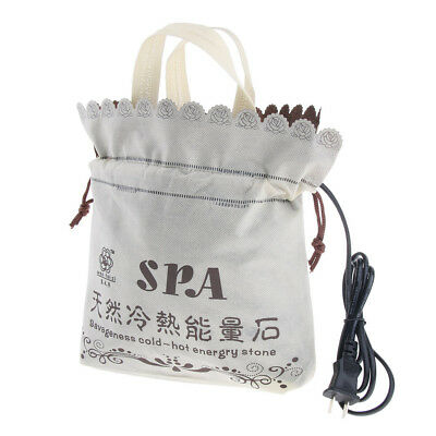 Electric Hot Rock Heating Bag Massage Stone Warmer Heater for Spa Massage
