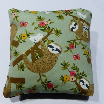 Wheat Bag .Heat Pack .Microwave ANIMALS SLOTH Green  Black 34 x 17 cm FREE POST