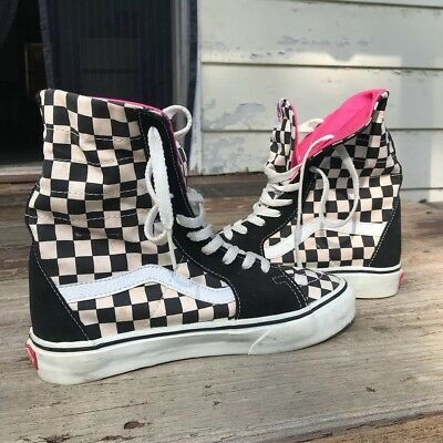 32ea9d1ae9fd85 RARE VANS SUPER Sk8 HI xtra tall Checkerboard Never worn Mens 7