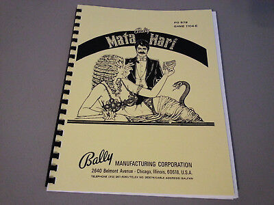 Mata Hari Pinball Manual with Full-Size, Fold-Out Schematics
