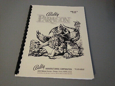 Paragon Pinball Manual with Full-Size, Fold-Out Schematics