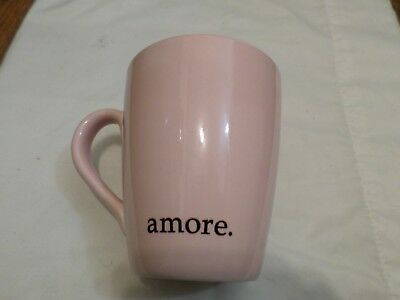 2003 Starbucks Barista Amore Pink Coffee Mug Heart Shaped Handle