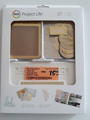 Project Life Kraft And Foil Value Kit (87) PCS HEIDI SWAPP