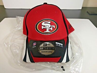 6bf4ee71e San Francisco 49ers New Era 39Thirty NFL Flex Fit Cap Hat - Size M/LG