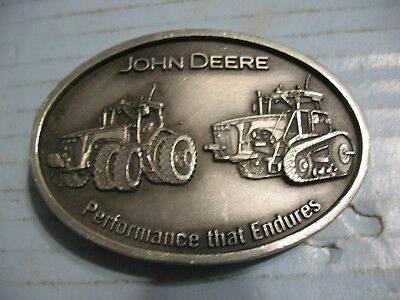 John Deere Performance That Endures Tractor Belt Buckle