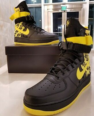 NIKE SF AF1 Air Force One High Dynamic Yellow Black Men s SZ (AR1955-001) 1df59728c