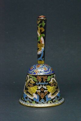 Vintage Chinese Cloisonne Bell ~ Dragon motif ~ 5 Inches tall~🐘