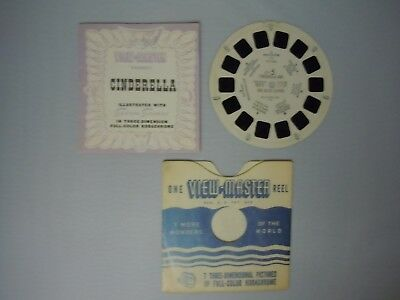 VIEW-MASTER Single Reel Set CINDERELLA & THE GLASS SLIPPER Sawyer's Inc. FT-5