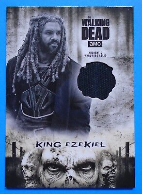 Topps The Walking Dead Hunters & Hunted King Ezekiel Authentic Costume Relic Sp