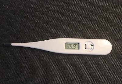 Digital LCD Thermometer Alarm Medical Body Safe Ear Temperature Oral Baby Adult