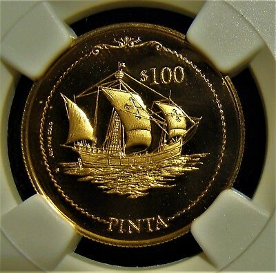 British Virgin Islands 1994 Gold $100 Discovery of America NGC PF 69 Ultra Cameo