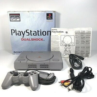 Sony Playstation 1 Console Dual Shock Console  PS1 Controller AV Power w/ BOX