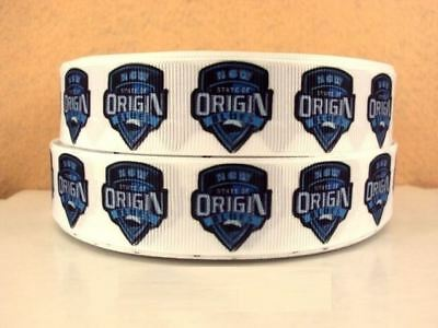 Grosgrain Ribbon Blues NSW Rugby State of Origin 25mm (1m, 2m or 5m + Bundle)