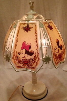 Mickey and Minnie Mouse Vintage Disney Touch Lamp WHITE