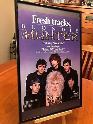 "Big 11X17 Framed Original Blondie ""the Hunter"" Lp Album Cd Promo Ad"