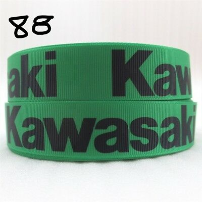 Grosgrain Ribbon Motorbike Kawasaki Brand 25mm (1m, 2m or 5m)