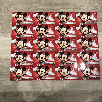 Disney Gift Cards (20) Previously Used-No Balance or Value-Crafting-Mickey Mouse
