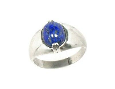 19thC Antique Gemstone 3½ct Lapis Lazuli Ring Ancient Gem of Heaven