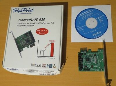 Highpoint RocketRaid 620 - Dual SATA 6Gbps via PCIe RAID HOST Adapter