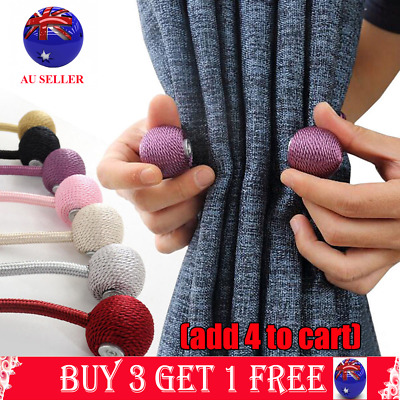 Magnetic Ball Curtain Tiebacks Tie Backs Hooks for Clothing Home Textiles DIY C