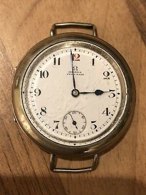 1913-14 Omega Silver Trench Enamel Ww1 Ultra Rare Antique Superb Vintage Watch