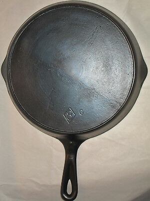 Antique Chicago Hardware Cast Iron SKILLET RESTORED # 8 Heat Ring Piqua Ware