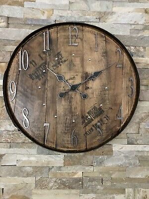 Clock - Rustic Clock - Large Clock - Weller - Barrel Clock - Buffalo Trace