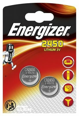 2 X Energizer 2450 3V Lithium Coin Cell Battery  DL2450 - ONLY £2.50 -FREE POST