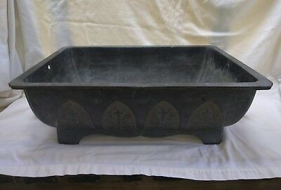 Antique vtg Japanese Mixed Metal Brass Bronze Ikebana Bonsai Tree Planter Pot