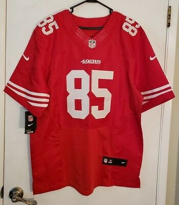 49ae2f4b6 Nike Vernon Davis San Francisco 49ers Home Red NFL On Field Jersey Size 48  XL