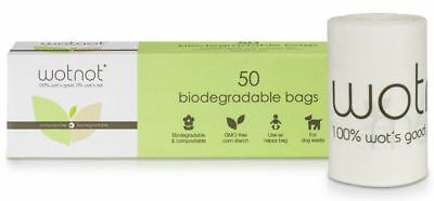 NEW Wotnot Biodegradable Nappy Bin Bags Compostable Eco Dog Poo Waste 50 Pack